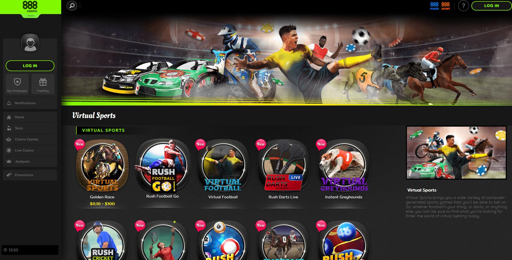 888Sport UK virtual sports review